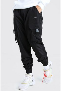 Original Man Shell Cargo Trouser With Strap, Black