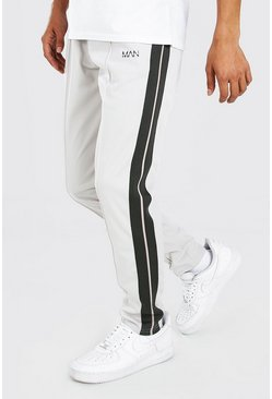 Original MAN Tricot Jogger With Tape, Light grey
