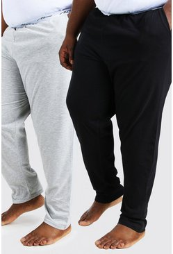 Multi Plus Size MAN Script 2Pk Lounge Pant