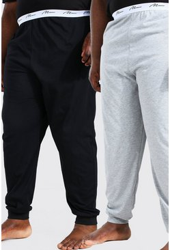 Multi Plus Size MAN Script 2Pk Lounge Jogger