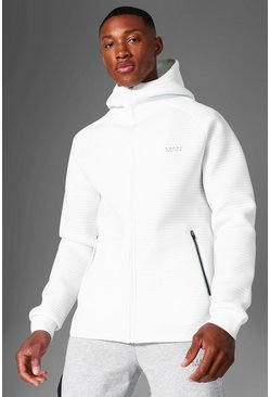 White Man Active Scuba Raglan Zip Through Hoodie