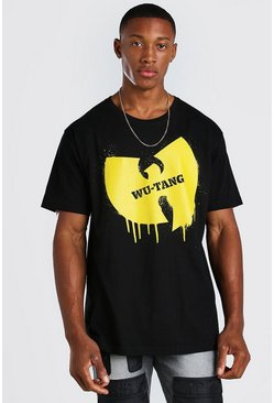 Black Oversized Wu-Tang Drip License T-Shirt