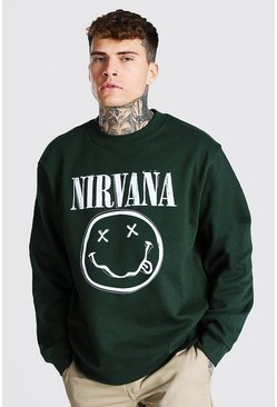 Green Oversized Nirvana License Sweatshirt