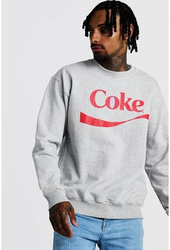 Sweat Coca-Cola officiel, Gris, Homme