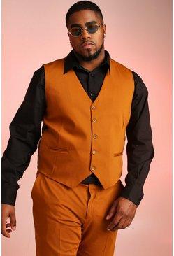 Mustard Big & Tall Skinny Fit Vest