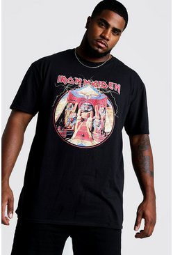Mens Black Big and Tall Iron Maiden Licence T-Shirt
