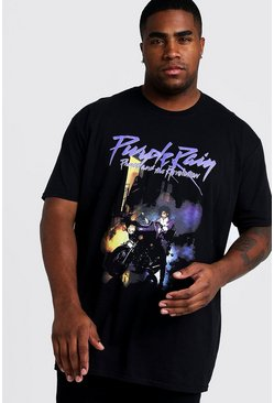 Mens Black Big and Tall Prince Purple Rain License T-Shirt