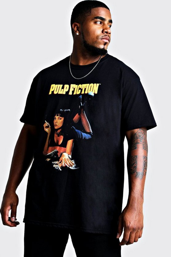 Mens Black Big and Tall Pulp Fiction Mia Licence T-Shirt