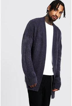 Mens Charcoal Oversized Laguna Cardigan