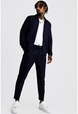 Mens Navy Coach Jacket And Jogger Twinset