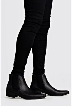 Black Western Chelsea Boot