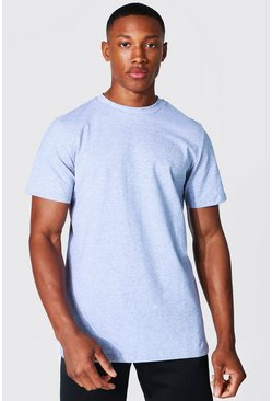 Grey marl Man Active Luxe T Shirt