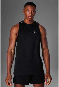 Black Man Active Textured Tank