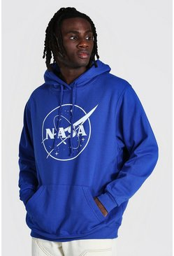Royal Oversized Nasa Print Hoodie