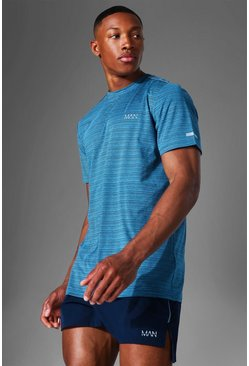 Blue Man Active Textured T Shirt