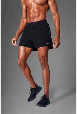 Black Man Active Side Split  Running Shorts