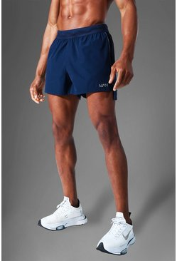 Navy Man Active Side Split  Running Shorts