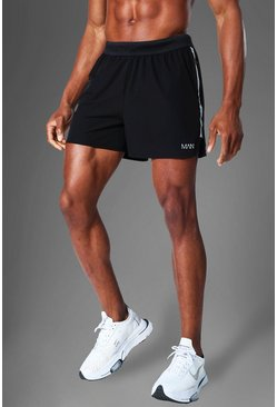Black Man Active Running Shorts