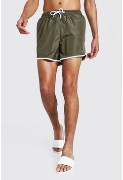 Khaki Tall Man Signature Runner Swim Short