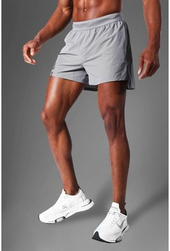 Grey Man Active Side Split  Running Shorts