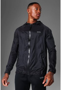Black Man Active Nylon Translucent Windbreaker