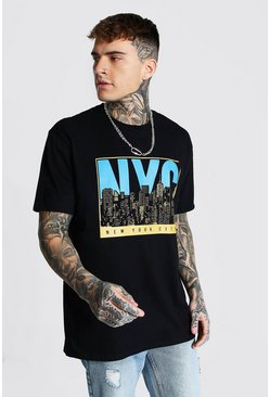 Black Oversized NYC Graphic T-shirt