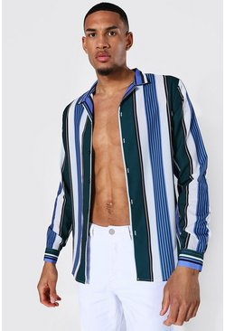 Multi Tall Long Sleeve Revere Stripe Shirt