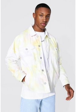 Yellow Heavily Bleached Denim Jacket