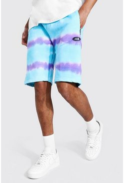 Light blue Tall Regular Man Tie Dye Zip Shorts