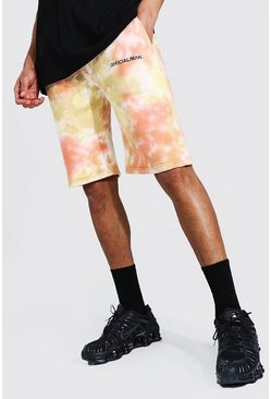 Lilac Tall Regular Man Tie Dye Jersey Shorts