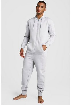 Mens Grey Basic Onesie