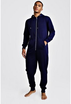 Navy MAN Embroidered Onesie