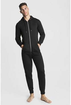 Black MAN Embroidered Onesie