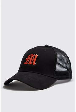 Orange M Embroidered Trucker Cap