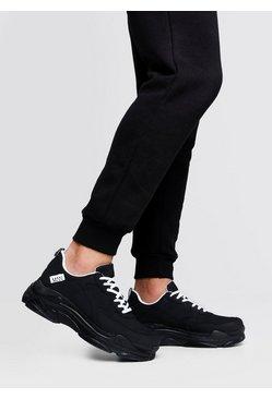 Matte Black Chunky Sneaker