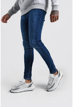 Mens Indigo Spray On Skinny Jean