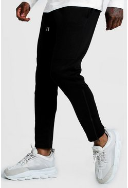 Mens Black Original MAN Biker Jogger With Ankle Zips