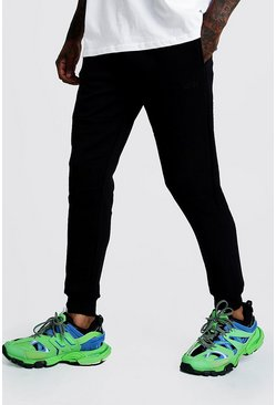 Mens Black Original MAN Biker Jogger