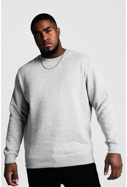 Grey marl Plus Size Basic Sweater