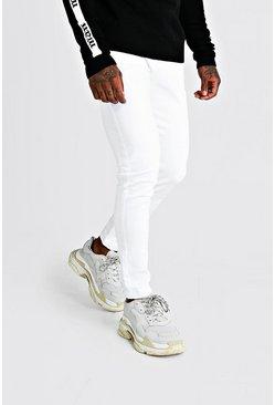Skinny Fit Denim Jeans In White