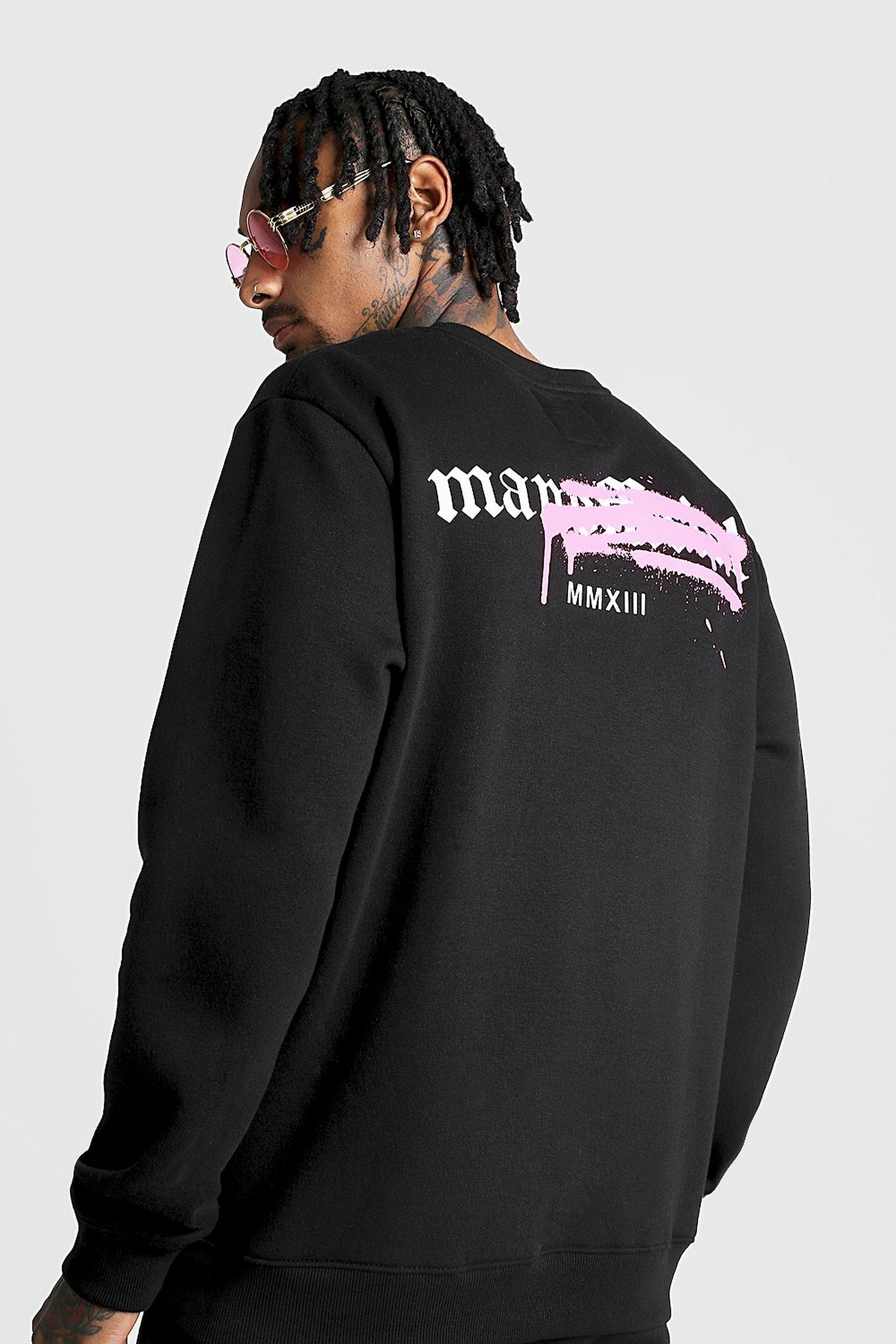 Bestbewertete Mode heiße Angebote neueste Graffiti MAN Official Pullover-Trainingsanzug mit Rückenprint