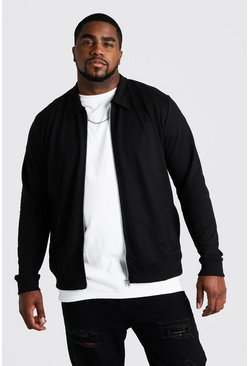 Black Big and Tall Basic Jersey Harrington