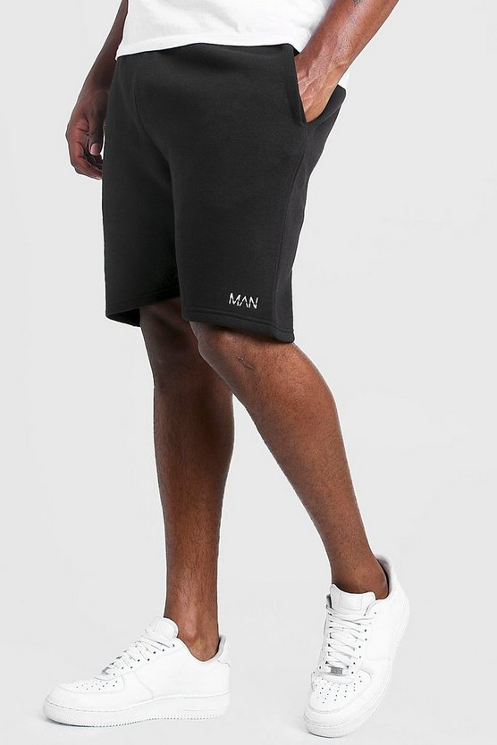 Mens Black Big and Tall MAN Dash Skinny Fit Shorts
