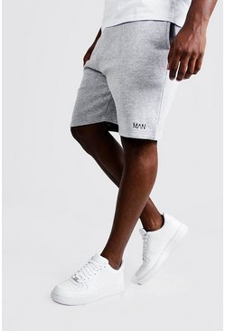 Grey marl Big and Tall MAN Dash Skinny Fit Shorts