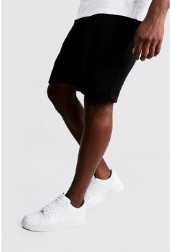 Black Plus Size Basic Skinny Fit Jersey Short