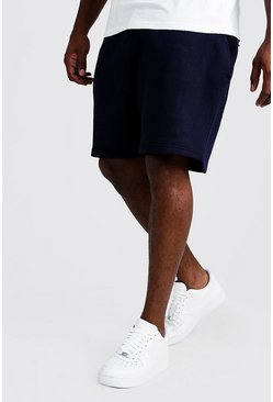 Navy Plus Size Basic Skinny Fit Jersey Short