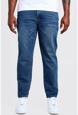 Mens Vintage wash Big & Tall Slim Fit Rigid Jean