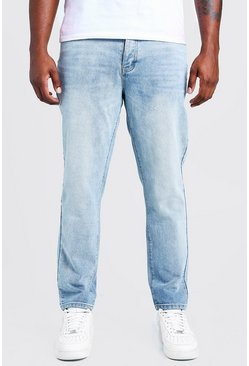 Mens Light blue Big & Tall Slim Fit Rigid Jean