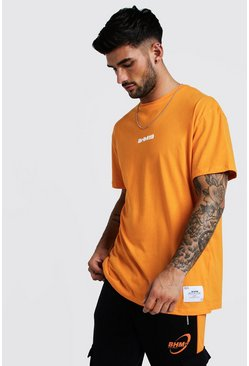 Orange Loose Fit T-Shirt With BHM19 Tag