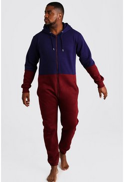 Big & Tall - Combinaison colour block, Bordeaux, Homme